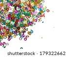 small color numbers confetti... | Shutterstock . vector #179322662