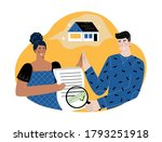 woman holding an approved...   Shutterstock .eps vector #1793251918