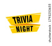 trivia night labels banners...   Shutterstock .eps vector #1793253655
