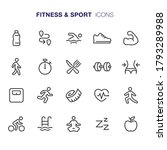 fitness and sport  icons stock... | Shutterstock .eps vector #1793289988