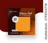 fast food social post banner | Shutterstock . vector #1793313778
