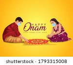 happy onam greetings vector... | Shutterstock .eps vector #1793315008