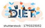 diet typographic header concept....   Shutterstock .eps vector #1793325052