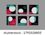 set of editable minimal square... | Shutterstock .eps vector #1793328805