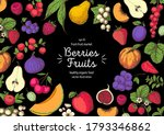berries and fruits drawing... | Shutterstock .eps vector #1793346862