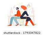 business topics   office work.... | Shutterstock .eps vector #1793347822