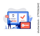 duo authentication concept with ...   Shutterstock .eps vector #1793362642