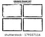 grunge frame set. vector... | Shutterstock .eps vector #179337116