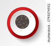 mercury colored button icon....