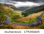 Winding Mountain Road Over A...