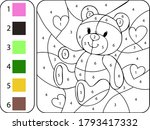 Paint Color Teddy Bear By...