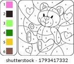 Paint Color Teddy Bear By...