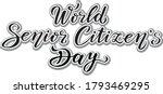 world senior citizens day.... | Shutterstock .eps vector #1793469295