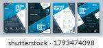 flyer design set. blue modern... | Shutterstock .eps vector #1793474098