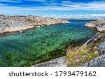 Swedish Sea Bay In Azure Colors