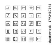 text editor icon set vector...