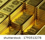 Stack Of  Shiny Gold Bars ...
