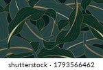 luxury gold and nature green... | Shutterstock .eps vector #1793566462
