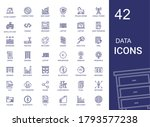 data icons set. collection of...   Shutterstock .eps vector #1793577238