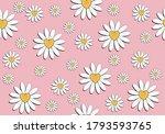 Pink Daisy Pattern Daisy...