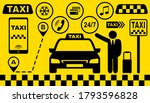 set of taxi car icons with... | Shutterstock .eps vector #1793596828
