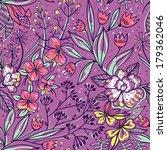 vector floral seamless pattern... | Shutterstock .eps vector #179362046