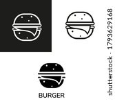hamburger icon with different... | Shutterstock .eps vector #1793629168