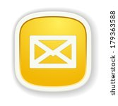 the yellow glossy icon with...