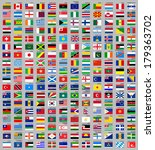 216 flags of world  flat vector ... | Shutterstock .eps vector #179363702