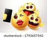 emoji selfie friends taking... | Shutterstock .eps vector #1793657542
