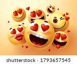 emoji in love vector creator... | Shutterstock .eps vector #1793657545