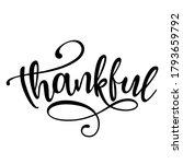 thankful   inspirational... | Shutterstock .eps vector #1793659792