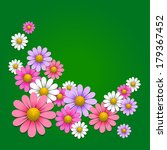floral background with daisy on ... | Shutterstock .eps vector #179367452