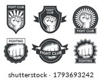 fight club logo set. vintage... | Shutterstock .eps vector #1793693242