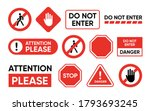 attention and forbidden... | Shutterstock .eps vector #1793693245