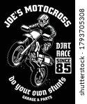 shirt design of motocross garage   Shutterstock .eps vector #1793705308