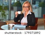 attractive middle aged blond...   Shutterstock . vector #179371892