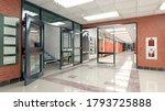 school hall and corridor... | Shutterstock . vector #1793725888
