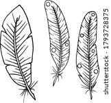 vector decorative feather... | Shutterstock .eps vector #1793728375