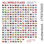 waving set of all world flags... | Shutterstock .eps vector #1793742025