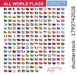 waving set of all world flags... | Shutterstock .eps vector #1793742028