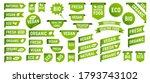 set of vegan  eco  bio  organic ... | Shutterstock .eps vector #1793743102
