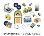 collection of retro analog... | Shutterstock .eps vector #1793748418