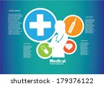 medical background. vector... | Shutterstock .eps vector #179376122