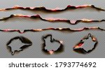 burnt paper edges with fire and ... | Shutterstock .eps vector #1793774692
