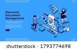 electronic document management... | Shutterstock .eps vector #1793774698
