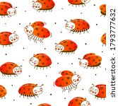 seamless pattern with cute... | Shutterstock .eps vector #1793777632