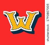 W Letter Sports Team Logo In...