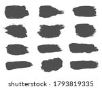 big collection of black paint ... | Shutterstock .eps vector #1793819335