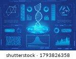 dna modern neon light hologram... | Shutterstock . vector #1793826358